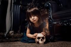 Halloween skull fotoshoot fotosessie